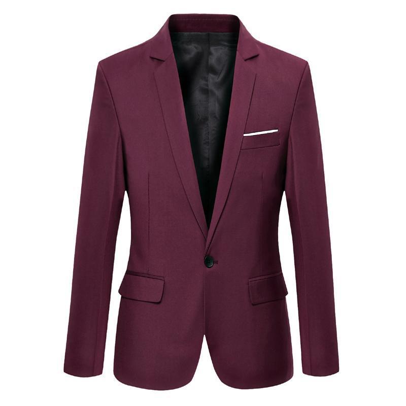 Queda 2020 Mens terno preto paletó de casamento Negócios Blazer cor pura homens formais Casacos Casacos