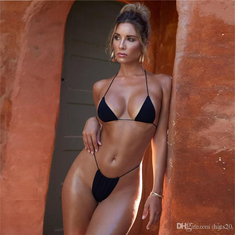 2019 جديد الرباط قطعتين بيكيني ماركة أزياء مثير النساء ملابس السباحة تريند مصمم الصيف شاطئ المايوه