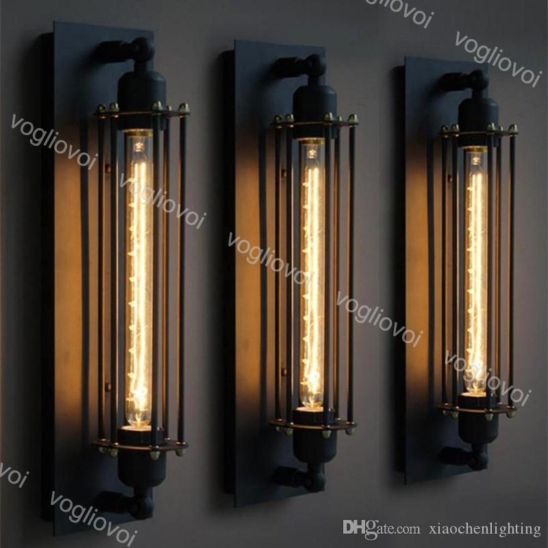 Lampade da parete Loft Vintage American Industrial Edison E27 Bed Hallway Decoration Decoration Lighting DHL