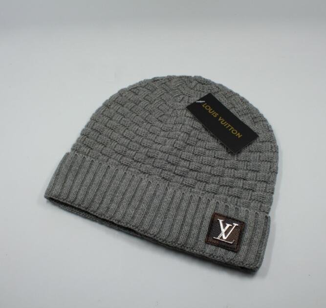 Designer Skullies Caps Gorros para homens mulheres 2020 New Inverno Marca Gorros de malha skate tampões do crânio chapéus com tag 7