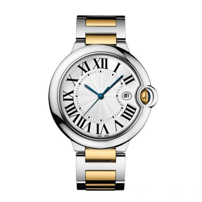 Top Mode Frauen Uhr 18 Karat gold Edelstahl Armband 28MM 36MM Dail Quatz Uhren 36mm Roma Anzahl Dame Armbanduhr TAG UHR