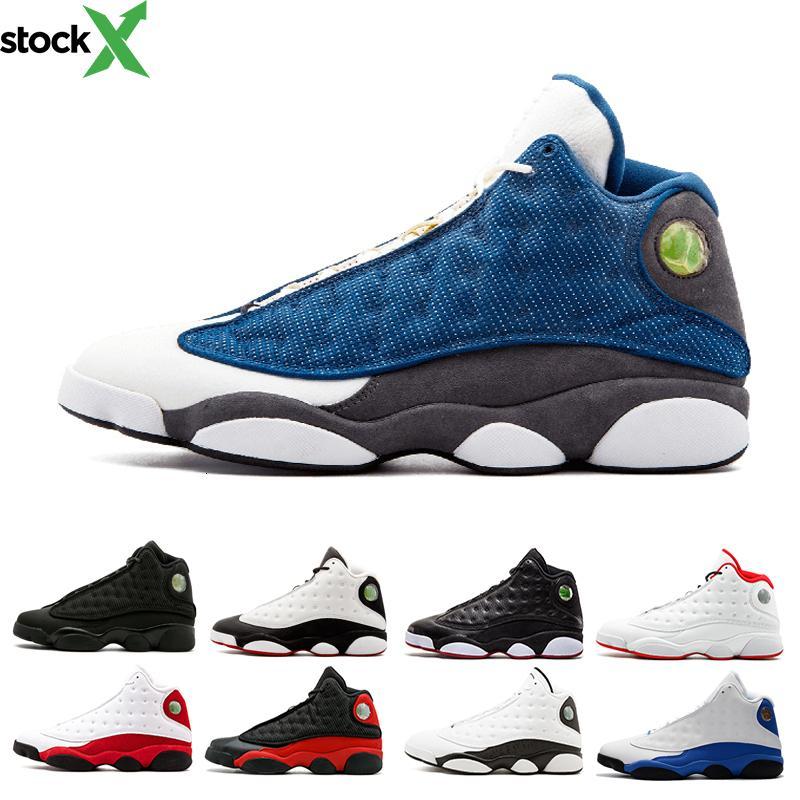 Melo erkek basketbol ayakkabıları 13 hiper Roya Bred siyah gerçek Kırmızı geçmişi dmp Indirim Sneakers 13 s siyah kedi Spor Ayakkabı