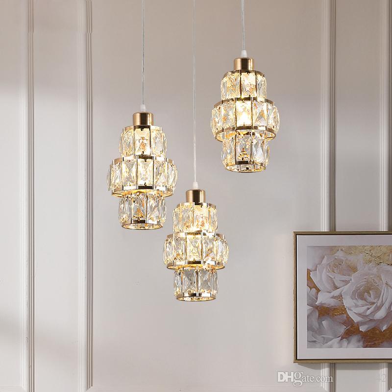 Nordic LED Pendelleuchte Kristallgold hängende Lampe für Esstisch Bar Küche Wohnzimmer lampada Industrie Modern Licht