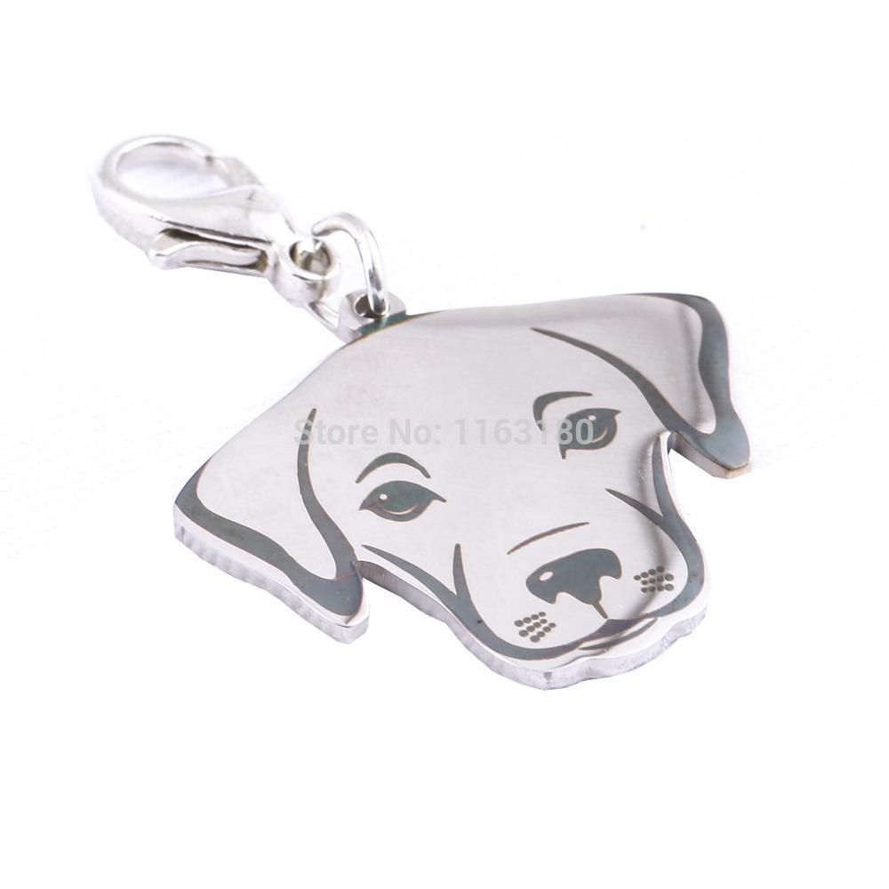 12 pçs / lote Personalizado Pet ID Nome Tag Aço Inoxidável Personalizado Tag de Cão Cães Gravados Animais de Estimação Acessórios Colarinho