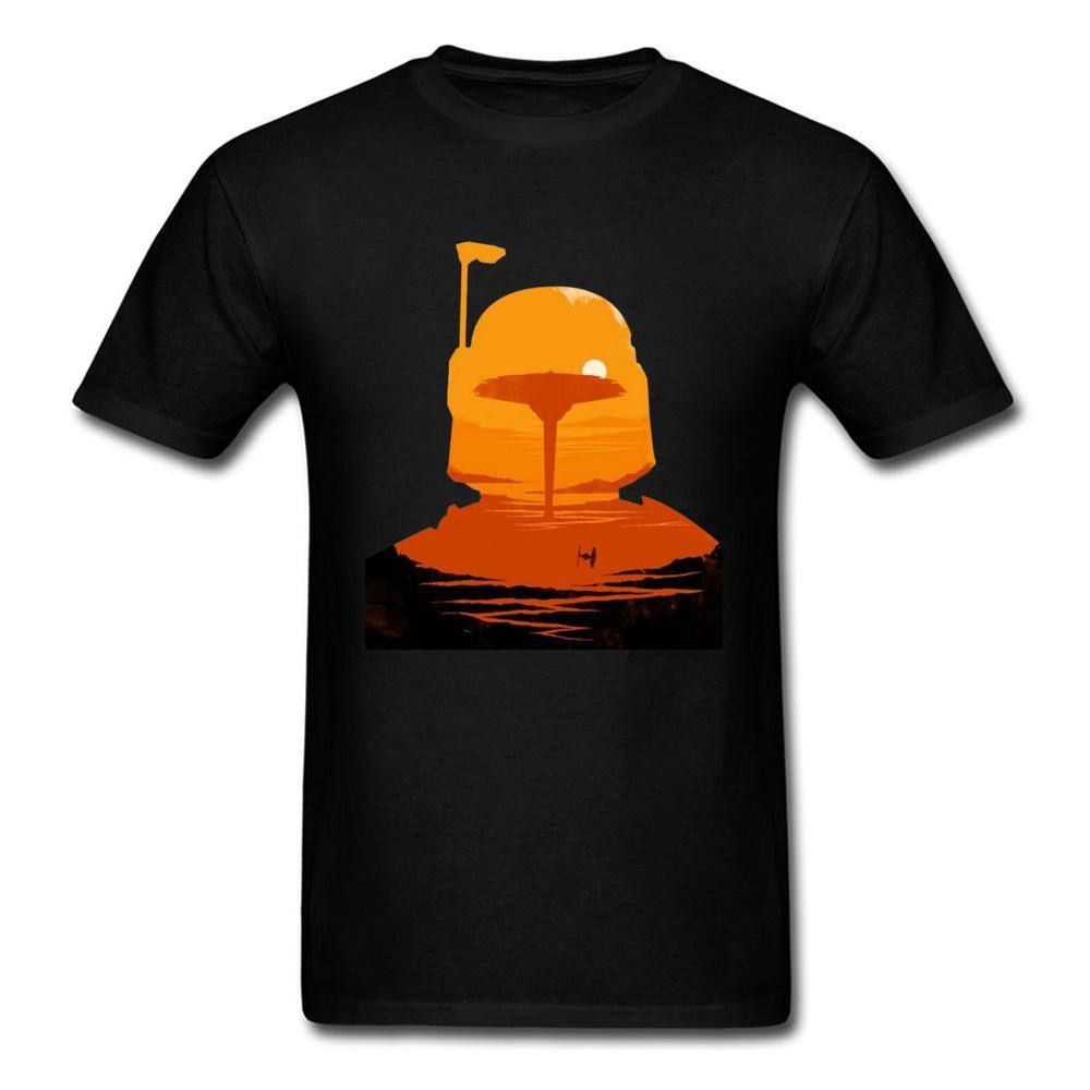 Boba Hawaii Sunset Şehir Tshirt Profil Boba Fett Samuray Yaz Güz erkek T Shirt Plue Boyutu