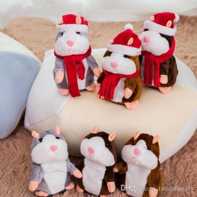 الحديث الهامستر ماوس الحيوانات الأليفة القطيفة الدمى الكلام كلام سجل صوت الهامستر محشوة لعب لعبة للتربية عيد الميلاد للأطفال هدايا 15cm وD6329