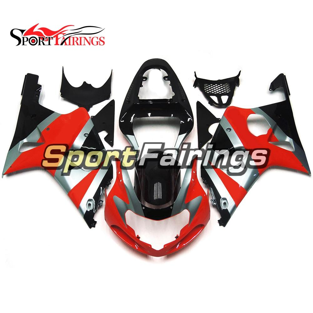 Full Motorcycle Fairing Kit For Suzuki GSXR1000 K1 K2 2000 2001 2002 GSXR1000 00 01 02 Injection ABS Plastic Sportbike Body Work Red Black