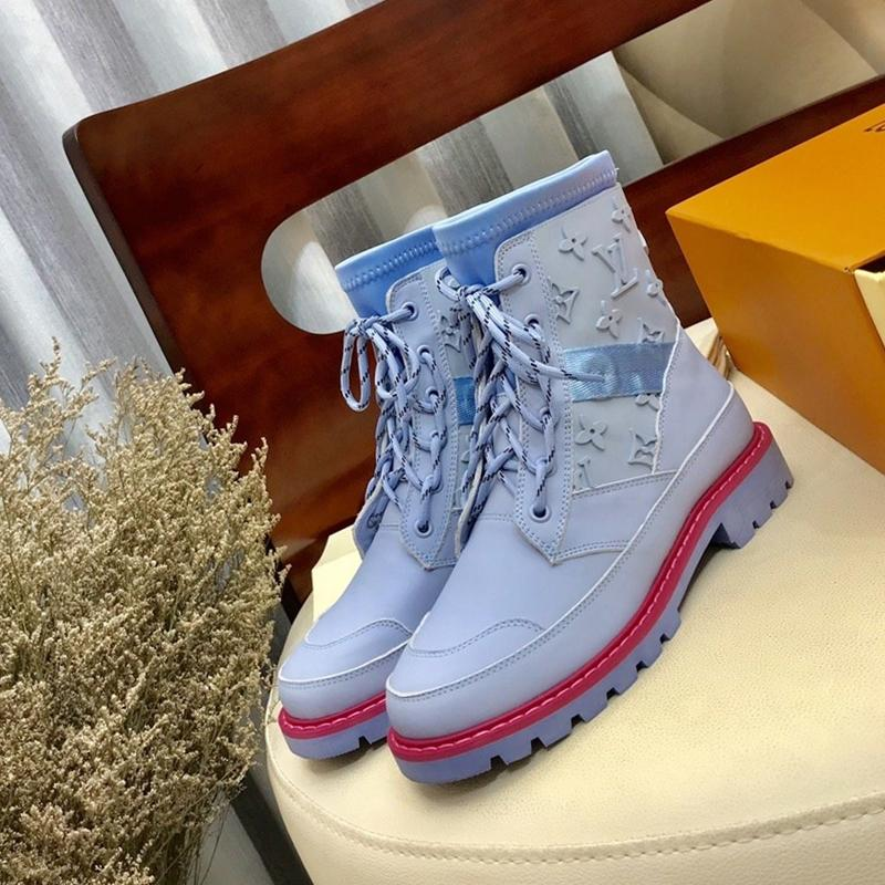 Martin boots-1 Air French brand womens Luxuries shoes with Calfskin Leather Sneaker fashion Booties basketball shoes with Box free shipping