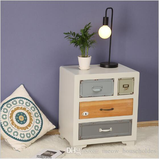 2019 American Mediterranean Paint Cabinets Solid Wood Bedside Cabinet  Storage Cabinet Bedroom Furniture Hotel Set Side Cabinet From  Meow_householdes, ...