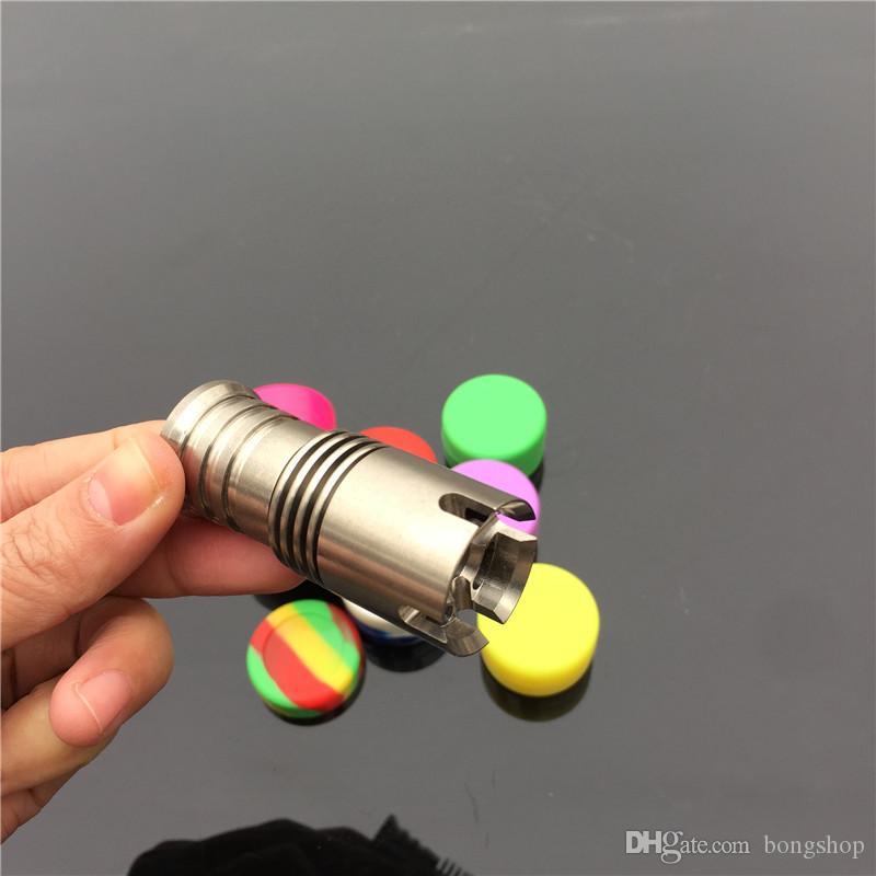precio al por mayor Ti Poder varias piezas de titanio uñas Domeless para fumar con Ti clavo de 18 mm 14 mm libre de unión hembra con el contenedor de silicona