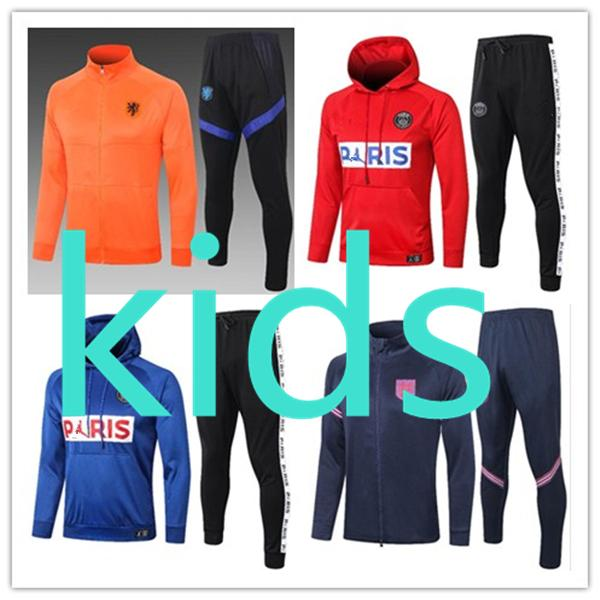 2020 2021 kids new 20 21 football kits clothing jacket hoodies robe pour enfants soccer training tracksuit Survetement chandal jogging