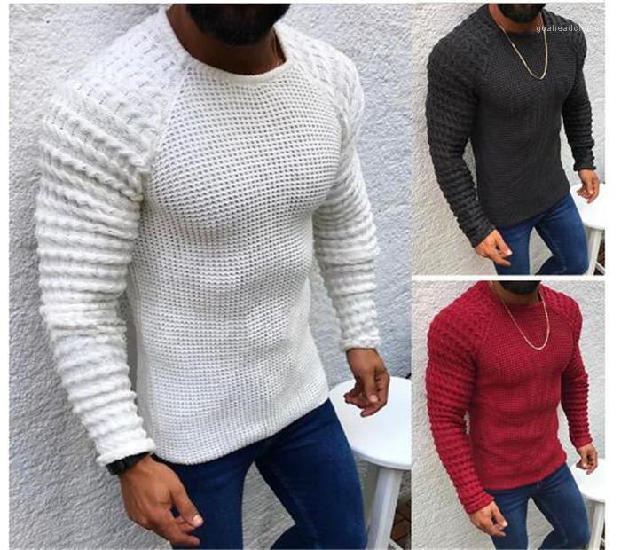 Pull Designer Loisirs Slim Fit longue Seelve Vêtement chaud Confortable automne Mens Keep col rond