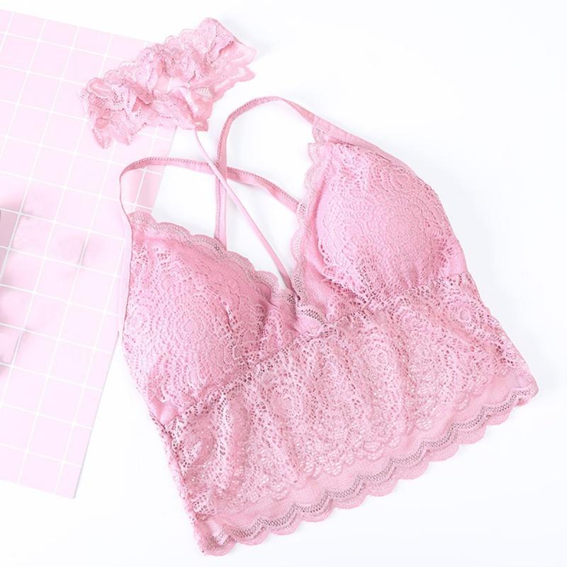 Las mujeres chaleco atractivo Halter camiseta del cordón tapa del tubo de la ropa interior femenina ropa interior atractiva de