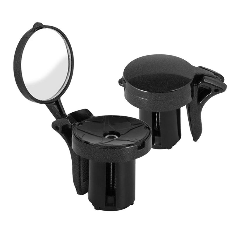 2PCS New Bike Handlebar End Mirrors Cycling Back Review Mirror For MTB Road Riding Racing Steel Mirror Bicycle Accessories