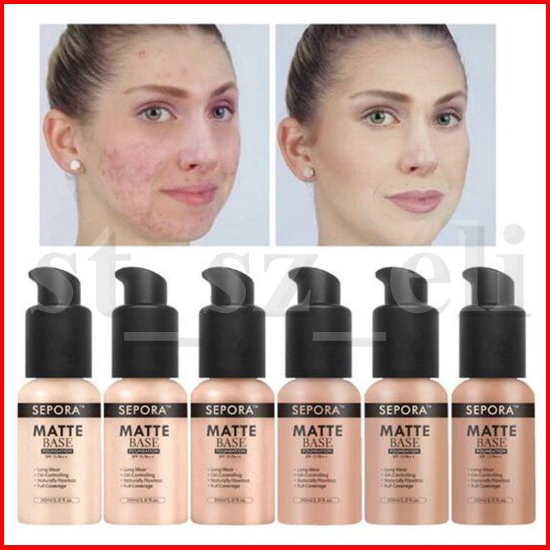 SEPORA Face Makeup Foundation Flüssige Matte Foundation Neue Schönheit Lange Tragen Wasserdichte Makeup Base Concealer Foundation 6 Farben