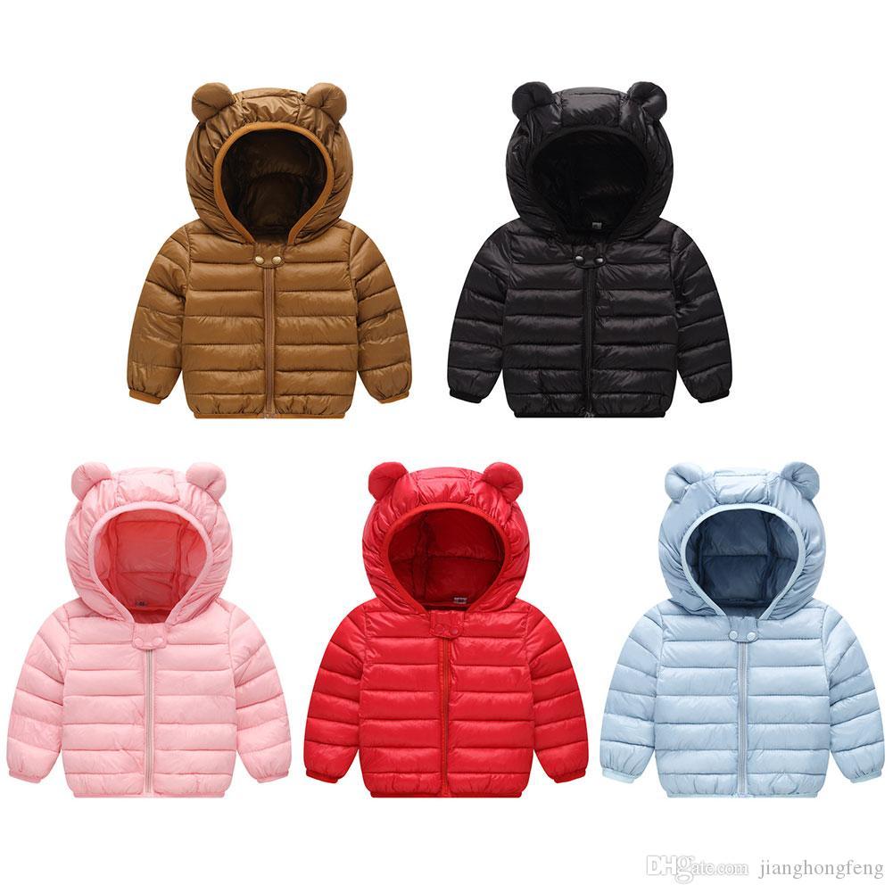 Casacos de inverno para crianças com Hoods do soprador Jacket Para Jacket Meninos Meninas Inverno Para Brasão Crianças bokep bebê