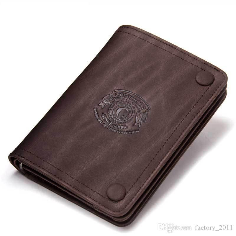남성 지갑 브랜드 디자인 미친 말 정품 가죽 남성 짧은 지갑 걸쇠 남자 지갑 동전 포켓 카드 홀더 뜨거운 판매 M1232