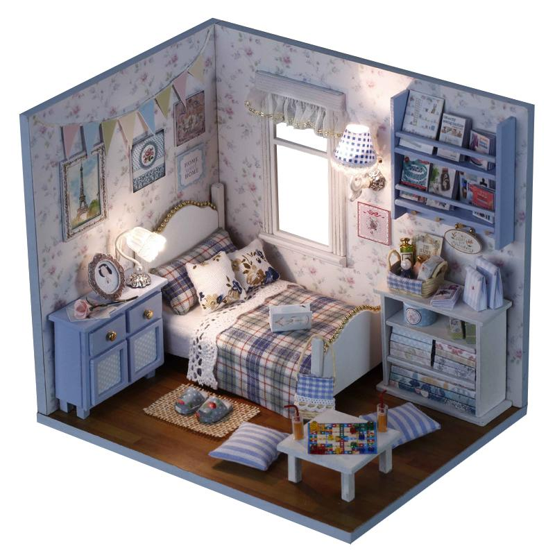 Sunshine Overflowing 3d Diy Wooden Doll House Handmade Mini Puzzle Miniature Furniture Toy Dollhouse Educational Toys Gift Y19070503