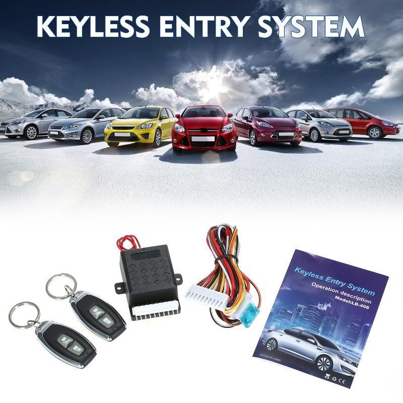 Sistema de Entrada Universal Porta de Carro Bloqueio Tronco lançamento Keyless Central Locking Kit Com Remote Control Suporte 1 milhão Código Tempos