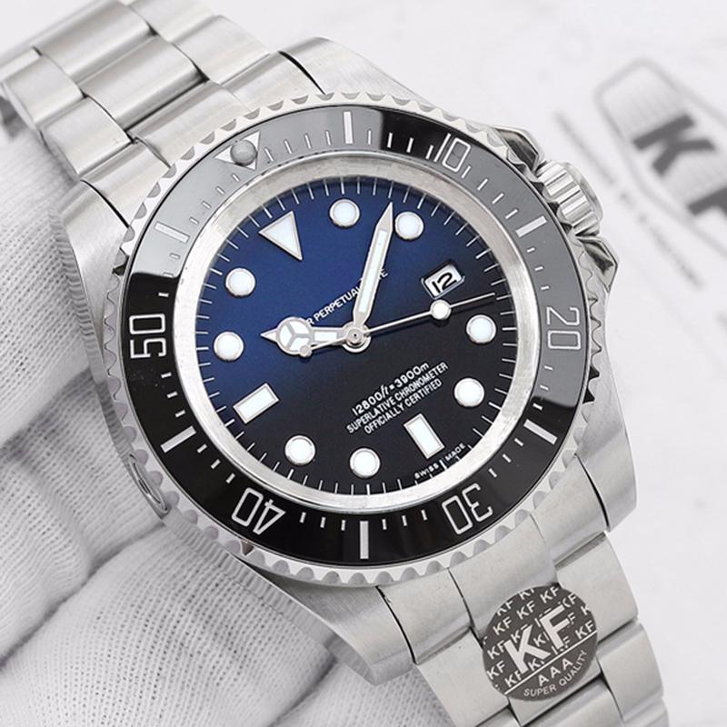 Glide Serrure épreuve de l'eau de luxe de Hommes Femmes Hommes mer Mouvement mécanique automatique Kfactory Montres-bracelets montres de mode Montres