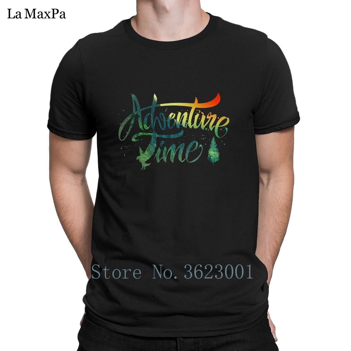 الترفيه T القميص للرجال والبرية مغامرة وقت على الغروب خمر الصلبة اللون التي شيرت مضحك الرجال المحملة القميص أعلى جودة