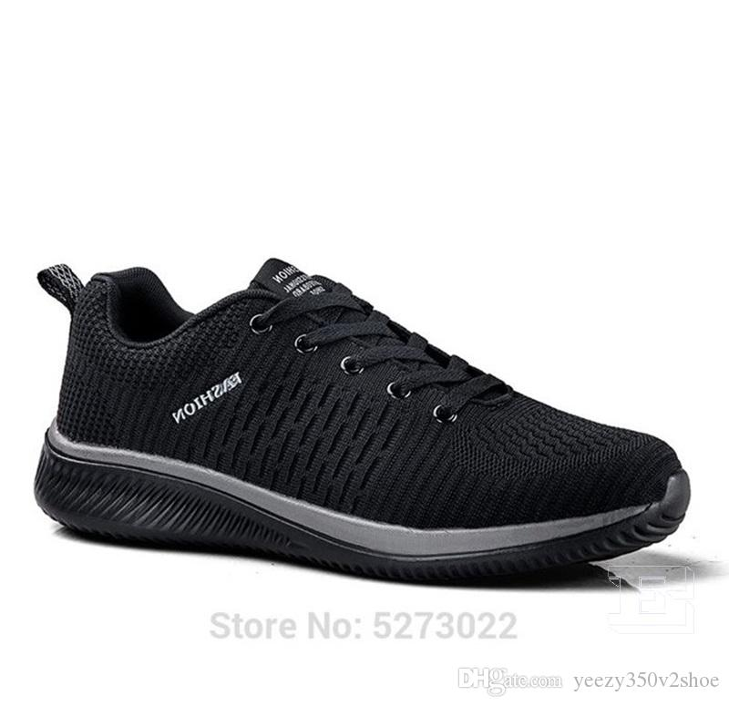 Горячая продажа Мода Мужская обувь Mesh дышащие кроссовки Walking Мужчины Обувь Новая Комфортная легкие кроссовки E-200228079