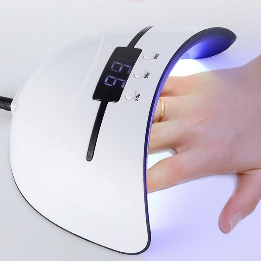 36w UV Lamp ногтей Сушилка для всех типов Gel 12 Led лампы для ногтей машины USB 30s 60s 90s Таймер Переносные лампы закалочные инструменты RRA1600