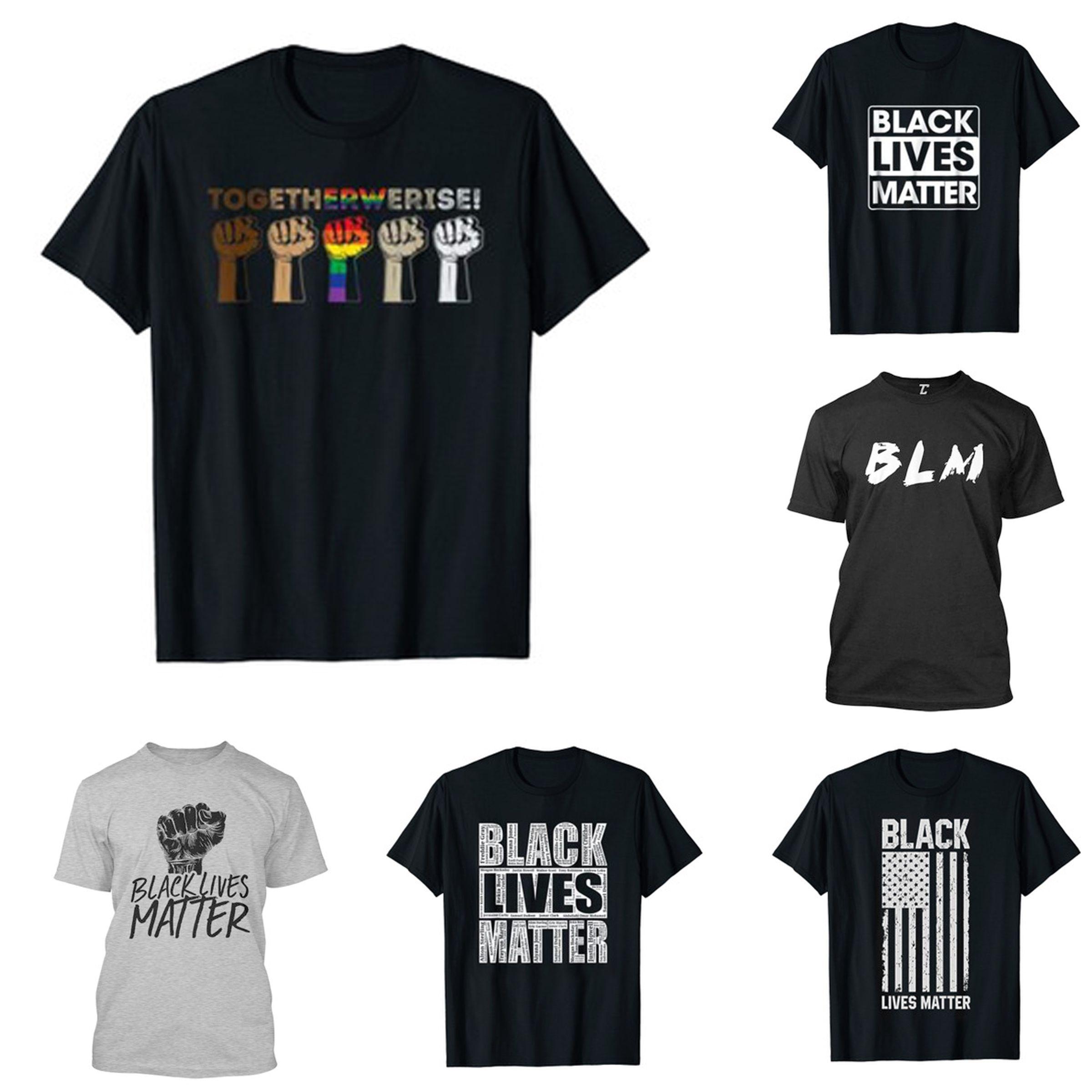 9 Стили I Cant Breathe Новая футболка для мужчин / женская 2020 Равенство Борется Одежда Мода Узор Новые мужские Top Тройники Black Lives Matter