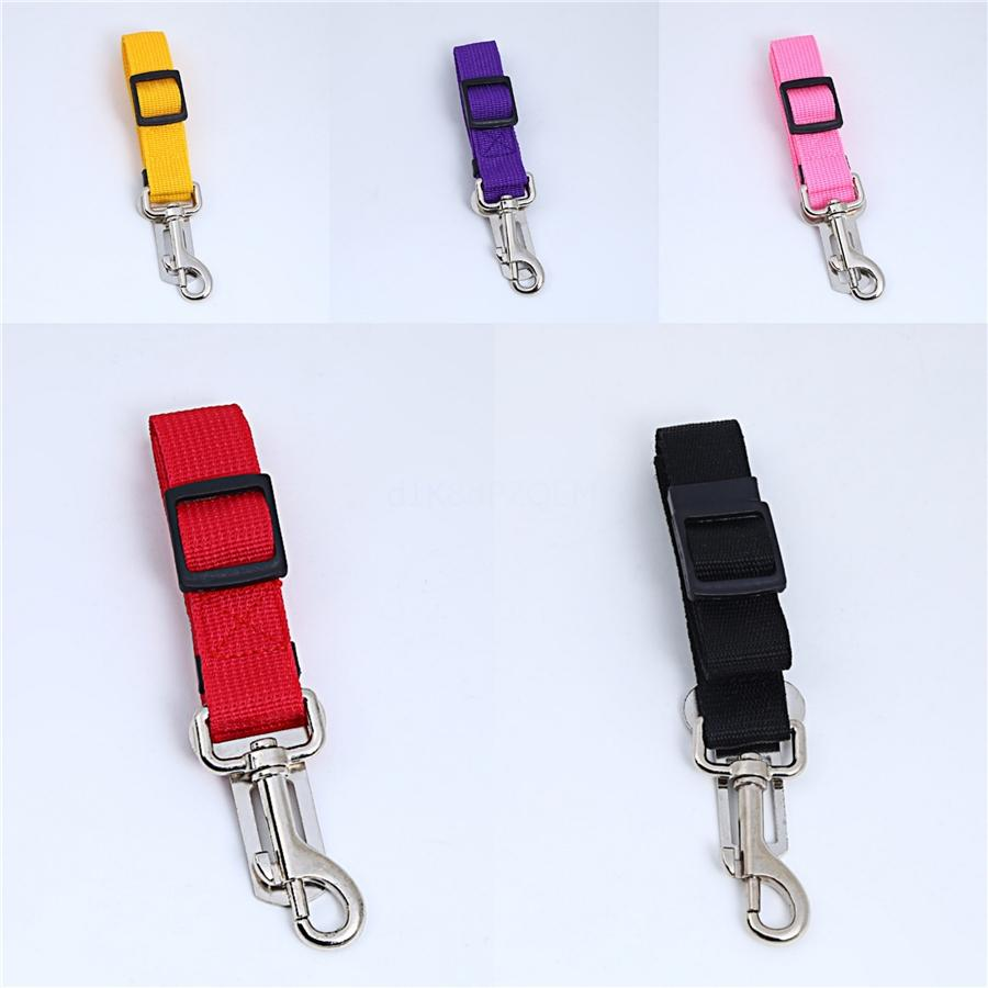 New Dog Pet Car Safety Seat Belt Harness Restraint Lead Adjustable Leash Travel Clip Dogs Supplies Accessories #360