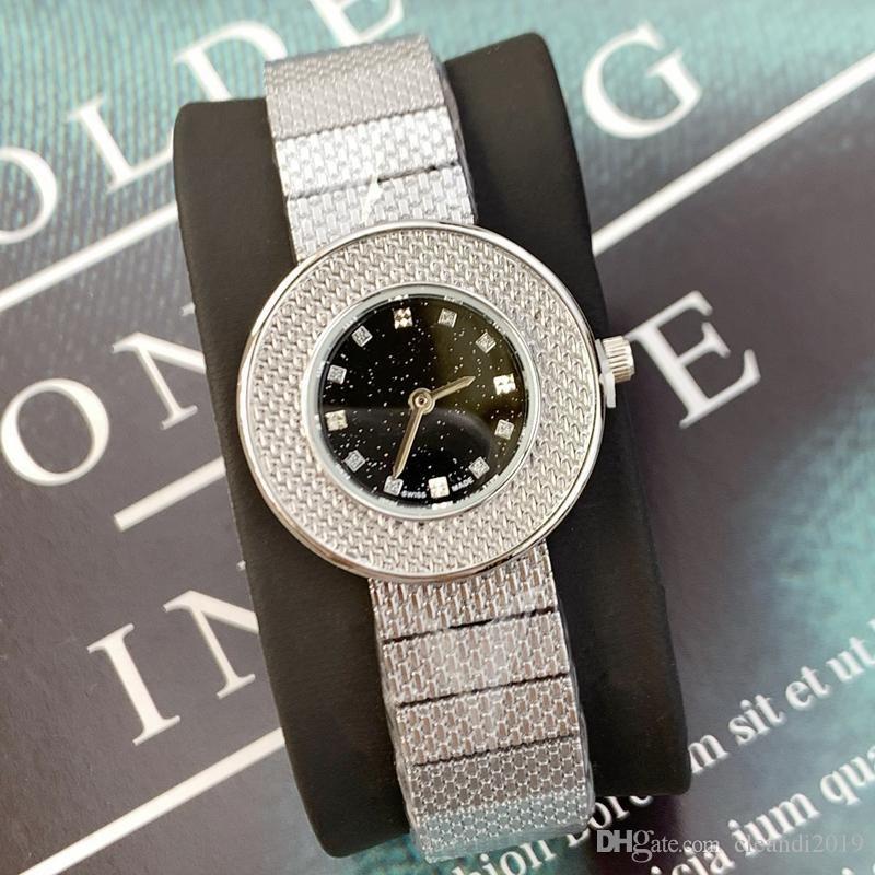 Moda Top design de qualidade de aço Mulheres relógio de pulso de prata Stainles Lady estilo de luxo relógio de pulso por atacado de alta qualidade Relógios De Marca Mujer