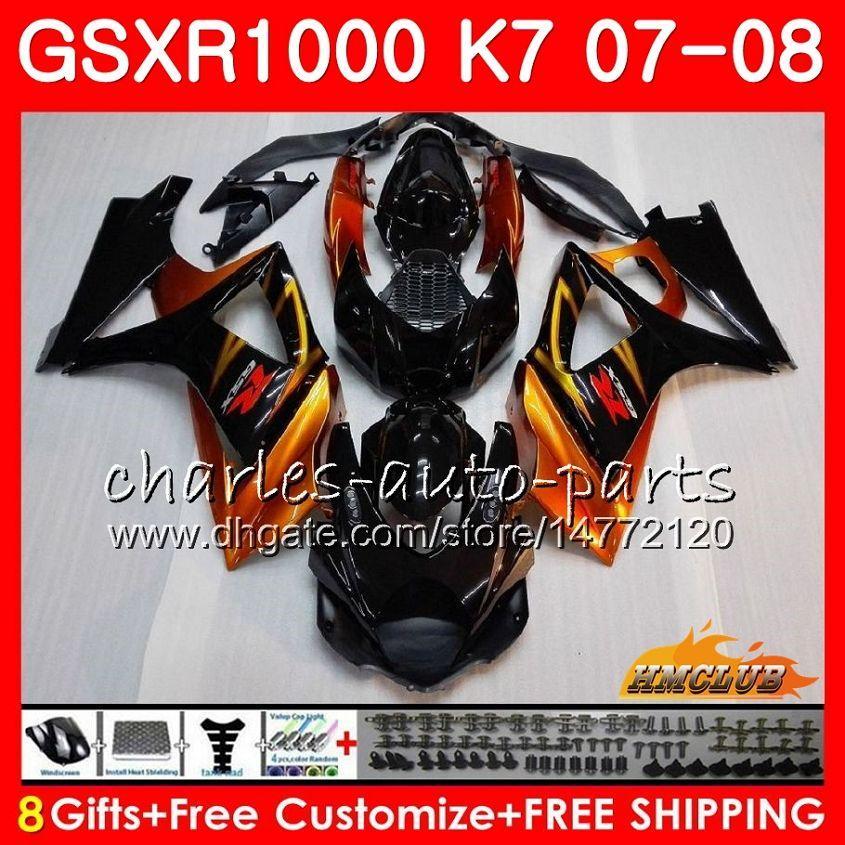 Fum/é Noir pare-brise pare-brise pour 2007-2008 Gsxr1000 GSXR 1000 GSX-R K7