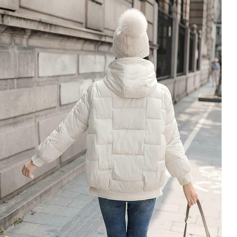 2019 2020 Kore gevşek spor ceket trendi aşağı yeni femaleing kısa paragraf kapüşonlu palto ceket