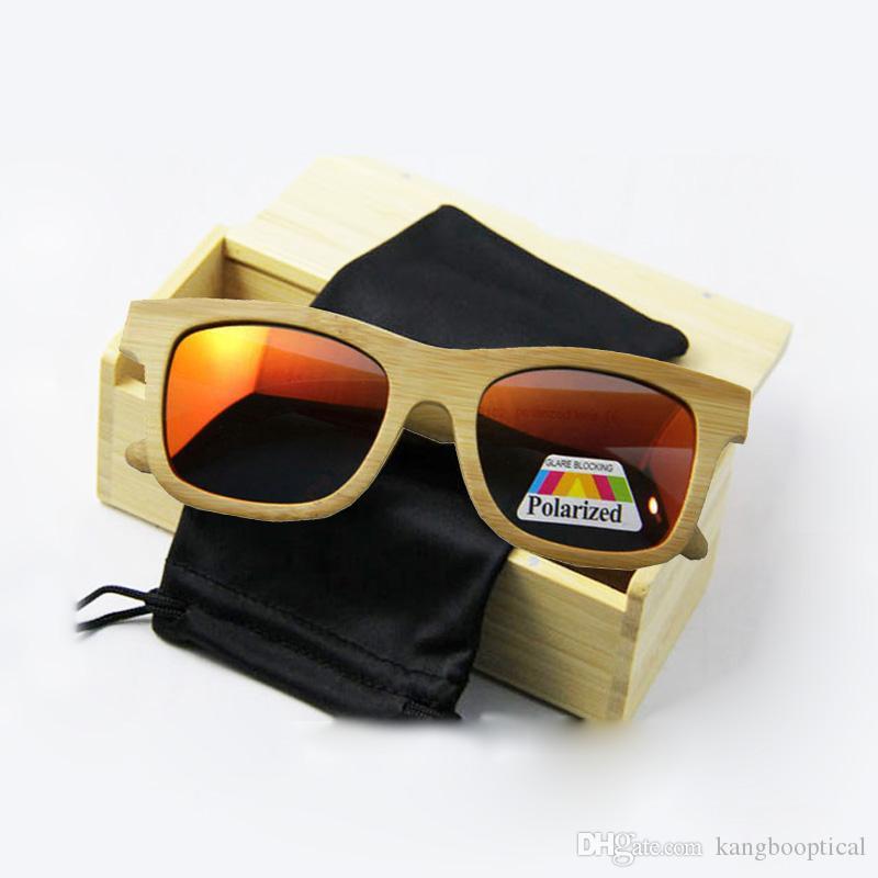 جديدة ذات جودة عالية الجودة الخشب النظارات الشمسية ريال خشب الخيزران نظارة شمسية الرجال النساء المستقطبة قيادة نظارات شعار المتاحة الشحن المجاني