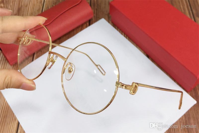 Nouveau style vintage rétro or tour k cadre design de mode unisexe 0158 lunettes optiques de style extérieur peut faire des lunettes de prescription
