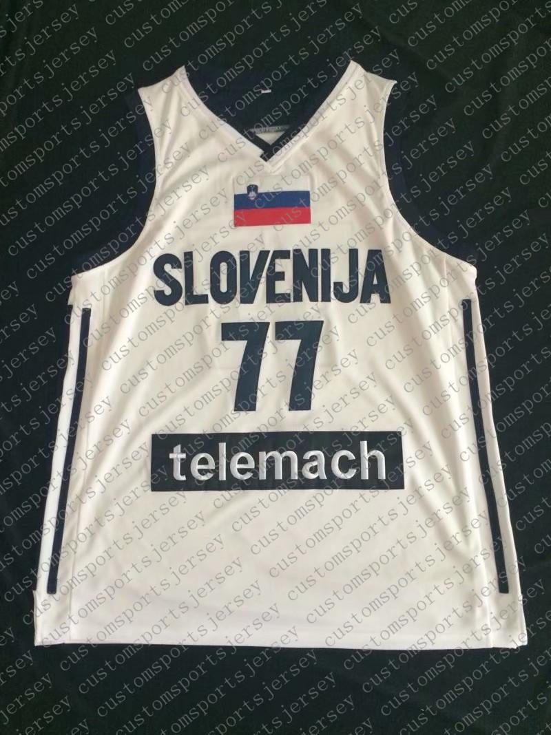 رخيصة بالجملة لوكا دونسيتش # 77 مخيط سلوفينيا الوطنية الفانيلة 2018 مسودات جودة عالية