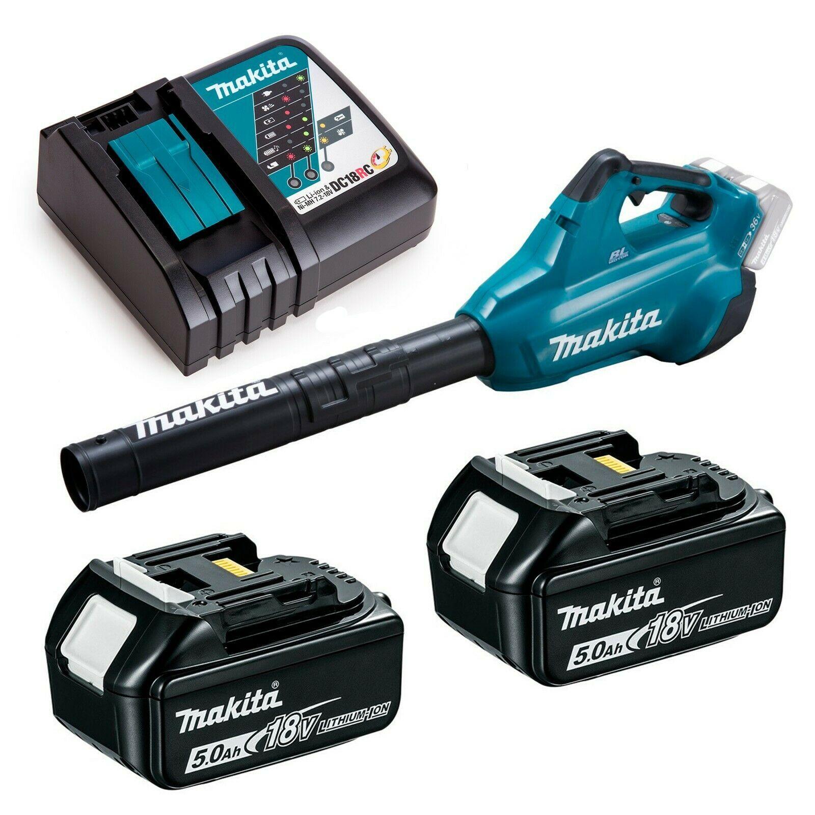 chargeur DC18RC Makita BL1850b Ventilateur sans fil 2 x 18 V DUB362Z 2 x batterie 5,0 Ah