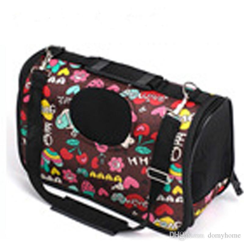 2019 new best selling pet backpack shoulder slung portable handbag convenient to go out folding breathable cat bag dog bag
