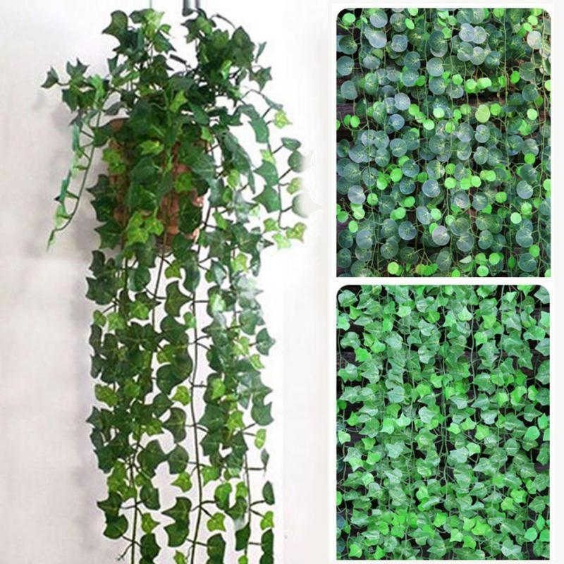 200cm Artificial Ivy Leaf Garland Plants Plastic green long Vine Fake Foliage flower Home decor Wedding decoration