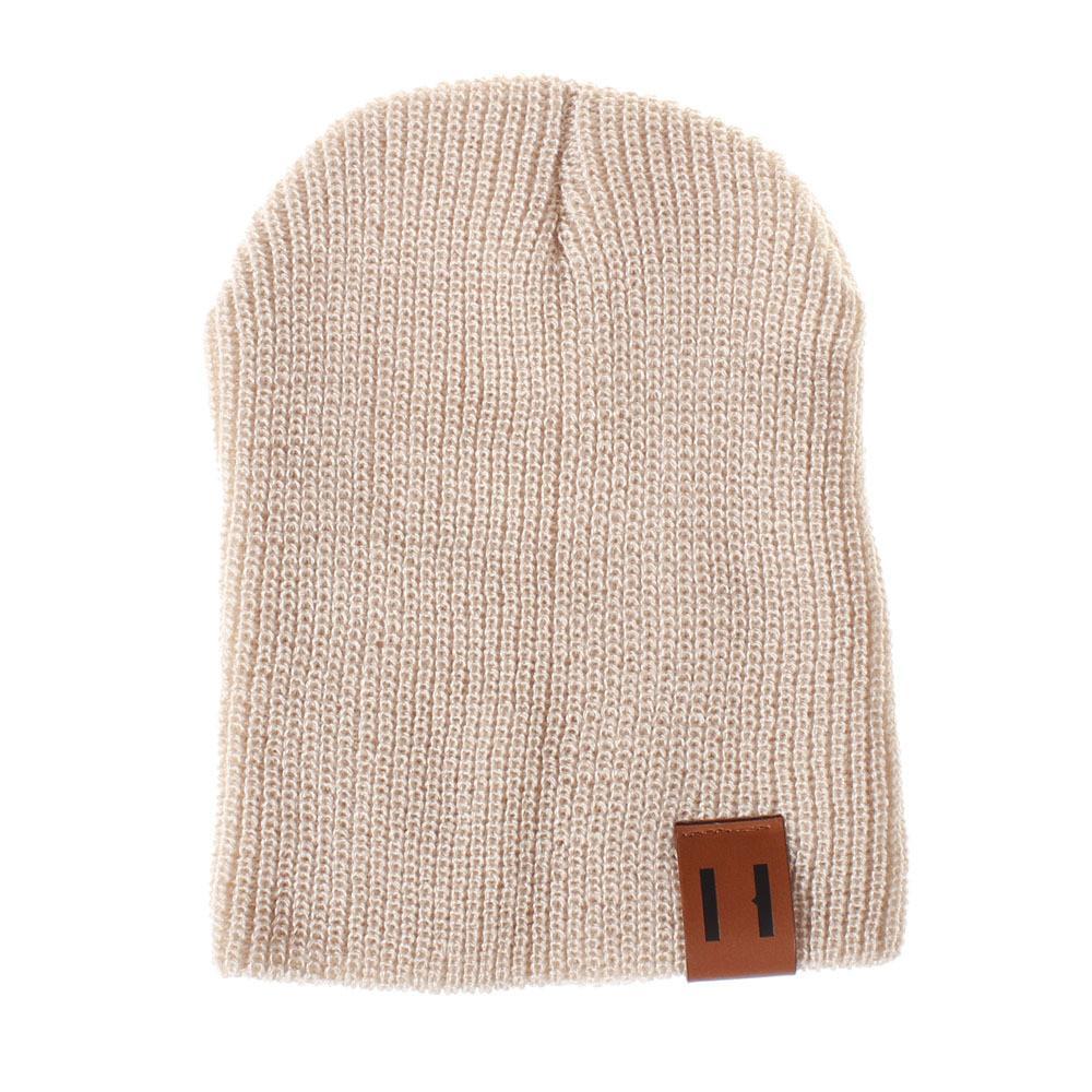 heißen Verkauf Kind-Kind-Jungen-Mädchen-Solid Color Knited Wollmütze Cap Mode unisex Winter warm feste Hut