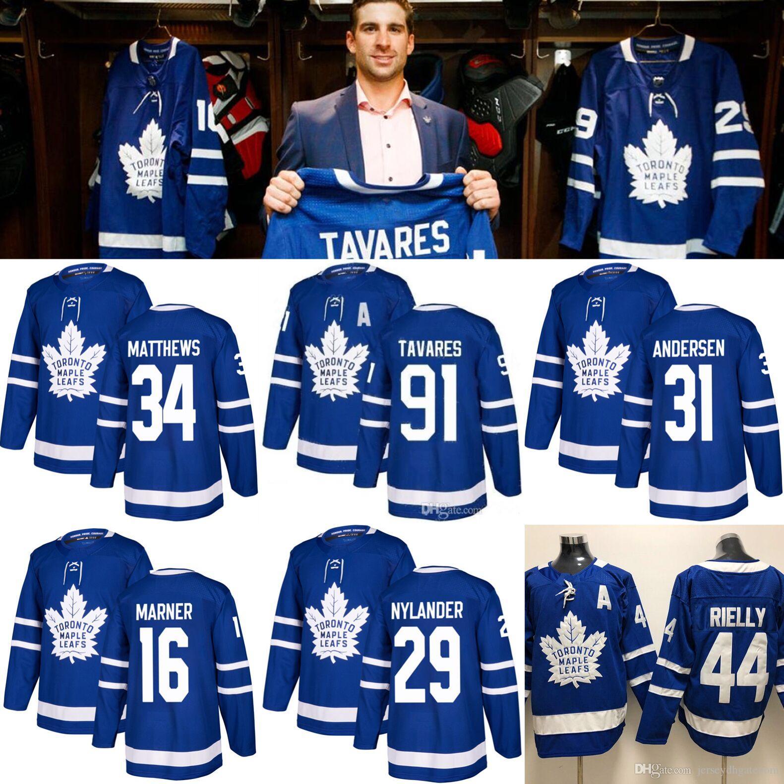 the latest cf70b eafc1 2018 Toronto Maple Leafs Jersey 91 John Tavares Hockey Jerseys 97 Connor  McDavid Men 34 Auston Matthew 16 Mitchell Marner 40 Elias Pettersson From  ...