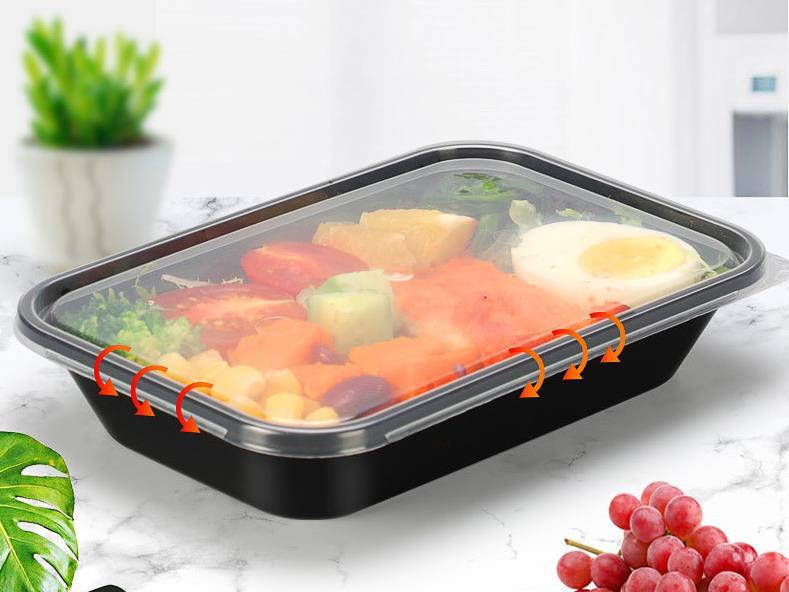 Customized container pp plastic high quality disposable Take Out Lunch Box Food Storage Microwavable to go boxes