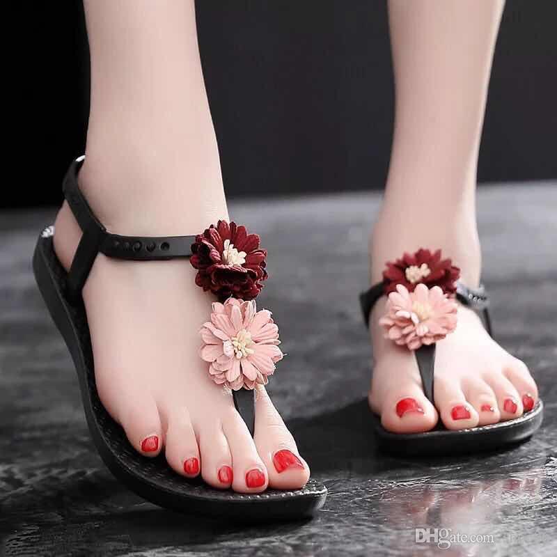 Mit Box Beste Qualität Hausschuhe Sandalen Slides Hausschuhe Sandalen Designer Schuhe Huaraches Flip Flops Müßiggänger Abnutzungen für Frau