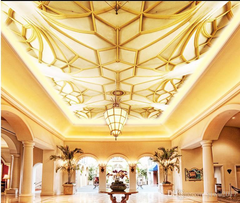 Carta da parati moderna 3D PhotoClassic soffitto tridimensionale Carte da parati Home Interior Decor Living Room Soffitto Lobby Murale Wallpaper