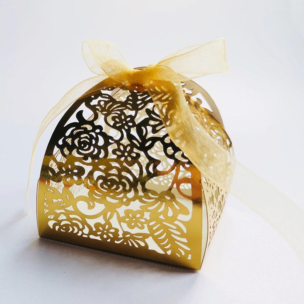 50 PC chocolate sólido Ducha perla del papel del cumpleaños del bebé Partido Europeo carro de la calabaza favor de la boda del regalo del caramelo Cajas de bricolaje