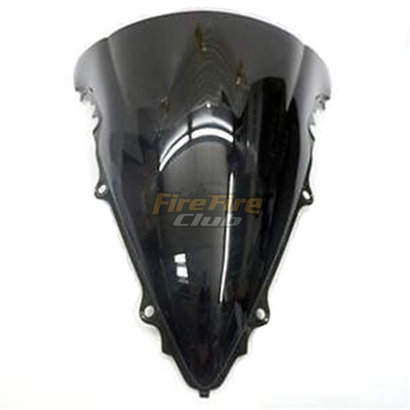 Yamaha YZF-R6 03-05 MPW Double Bubble Black Windshield Screen