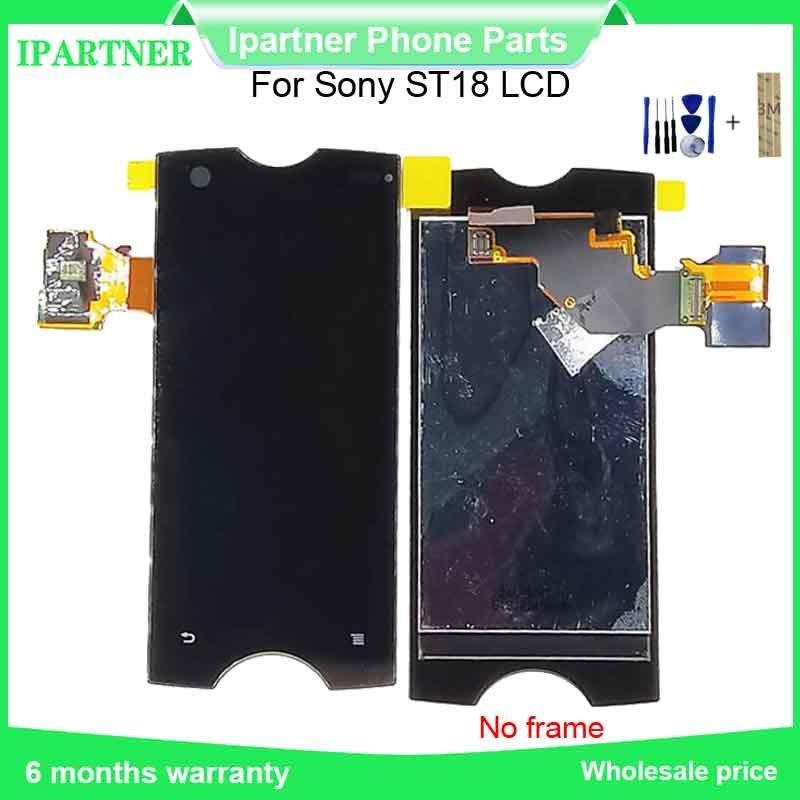 Для Sony Ericsson Для Xperia Ray ST18i ST18 ЖК-дисплей с сенсорным экраном Замена Ассамблеи для Sony ST18 100% Испытано