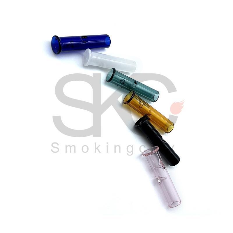 드라이 허브 담배 RAW 마는 종이와 담배 담배 홀더 파이렉스 유리 라운드 플랫 입 필터 팁 미니 유리 필터 팁