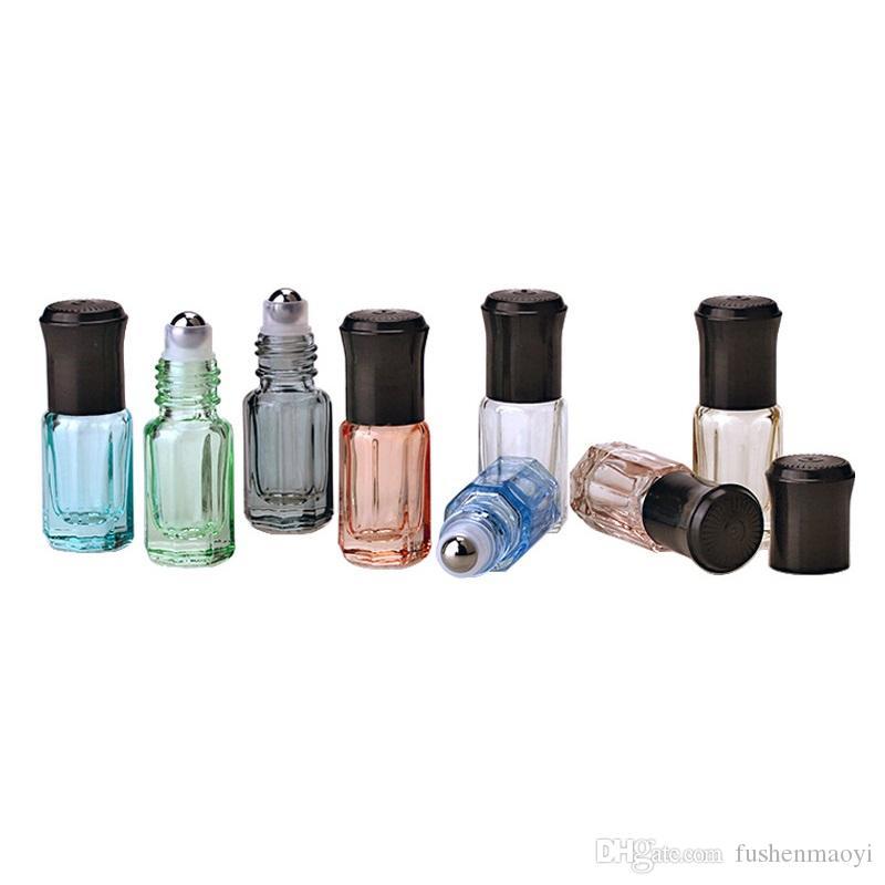 3ml bouteille de parfum d'huile essentielle de diffuseur d'huile essentielle de diffuseur d'octogone coloré petit pain coloré de mur sur des bouteilles avec la b