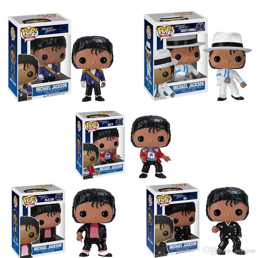 Presente de aniversário Funko pop Beat It Billie Jean BAD MICHAEL JACKSON Action Figure Collectible Toy Modelo para FA3289 chlidren