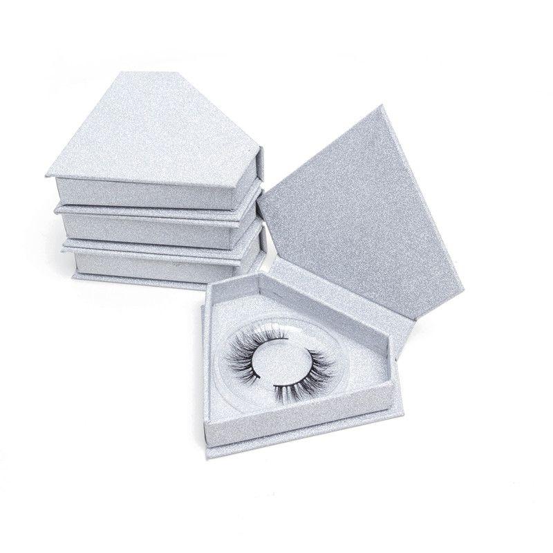20pcs / lot brillant Sliver diamant Fale Cils Emballage Boîte vide Faux individuel vide Mink Lashes Faucl Cils Case Do